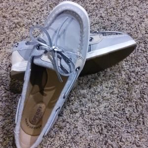 Sperry grey boat shoes